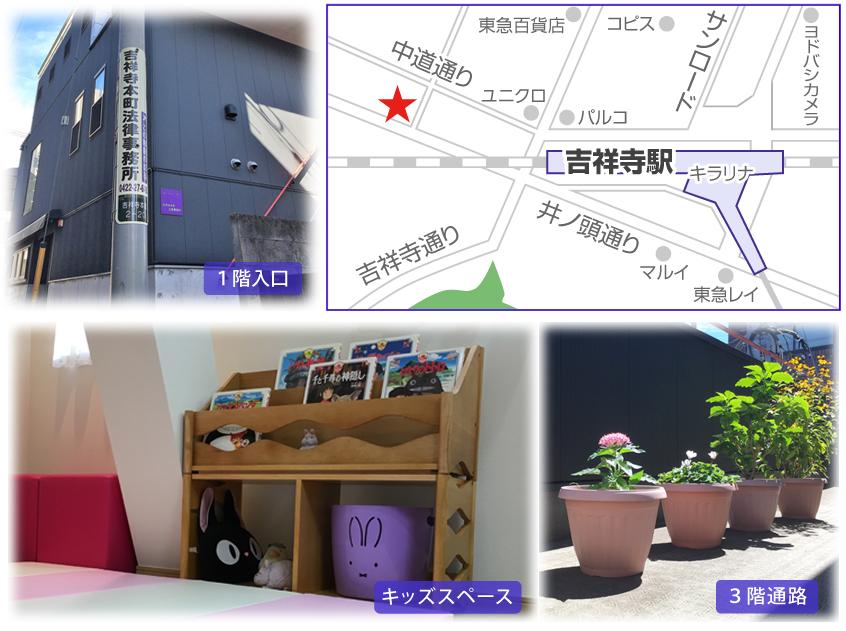 吉祥寺本町法律事務所への案内図
